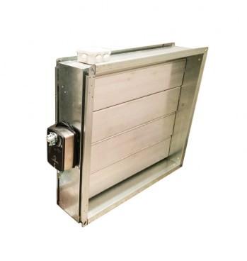 Алюминиевый воздушный клапан утепленный (нагревательный кабель)