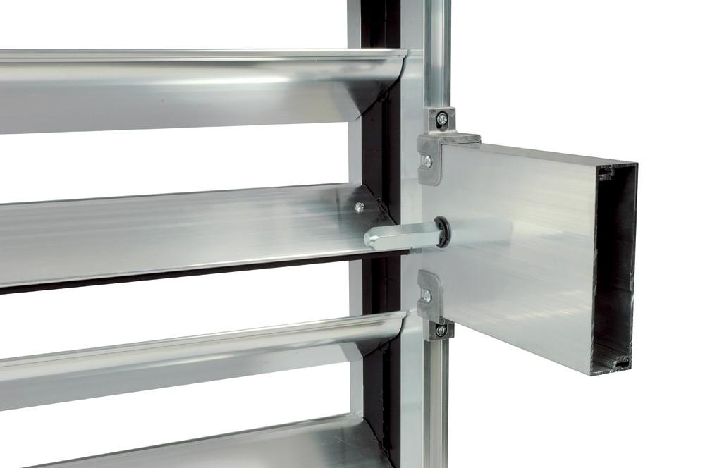Алюминиевый воздушный клапан с фронтальным приводом